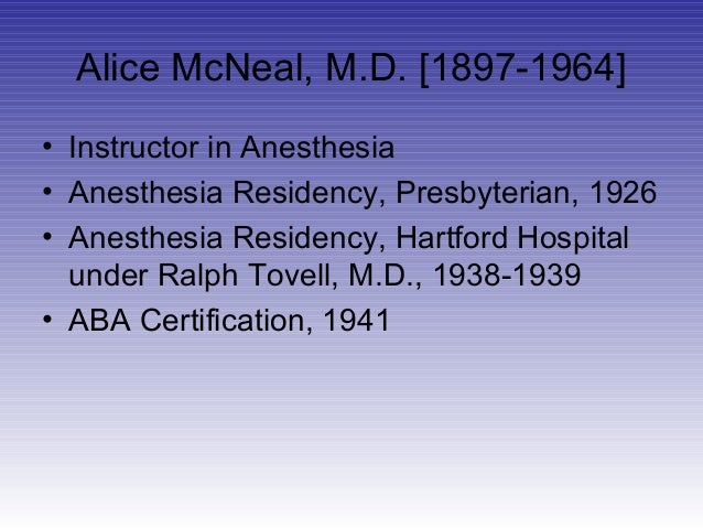 Dr  Alice McNeal: Alabama's First Female Anesthesiologist