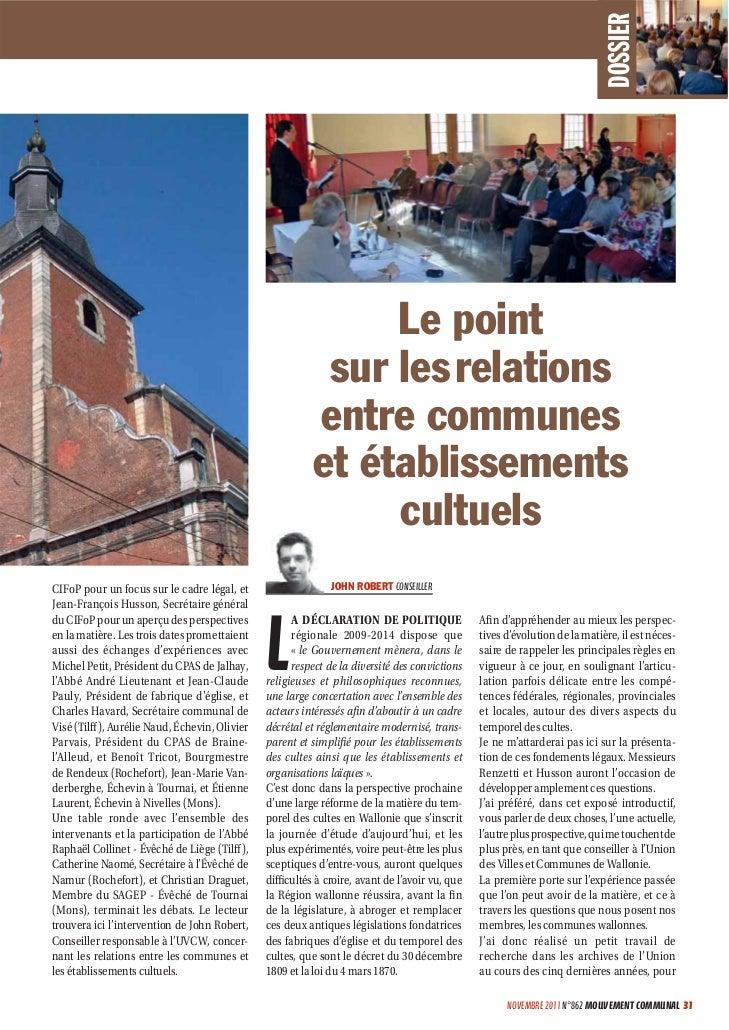 Mouvement communal novembre 2011
