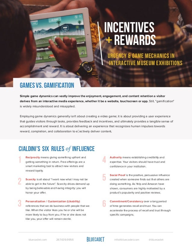 Games vs. Gamification  Simple game dynamics can vastly improve the enjoyment, engagement, and content retention a visitor...