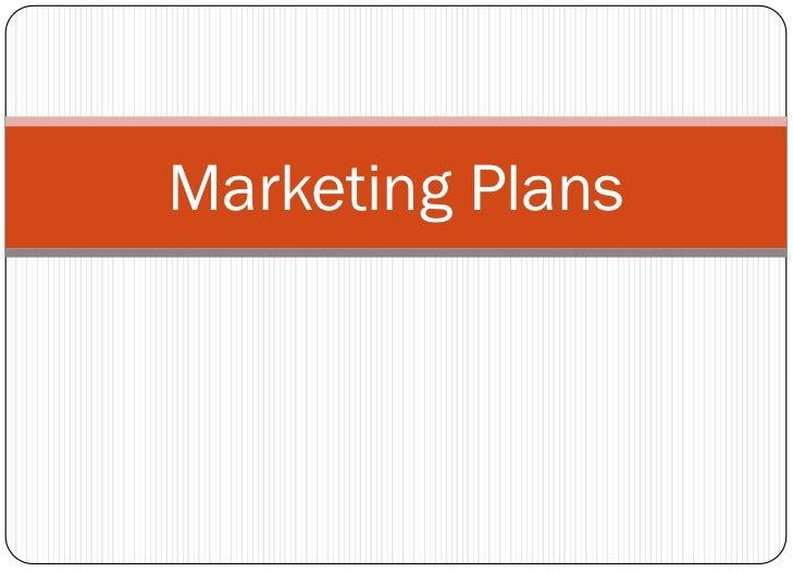 Mcom 341-11 Marketing Plans