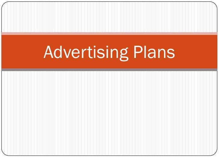 Advertising Plans<br />