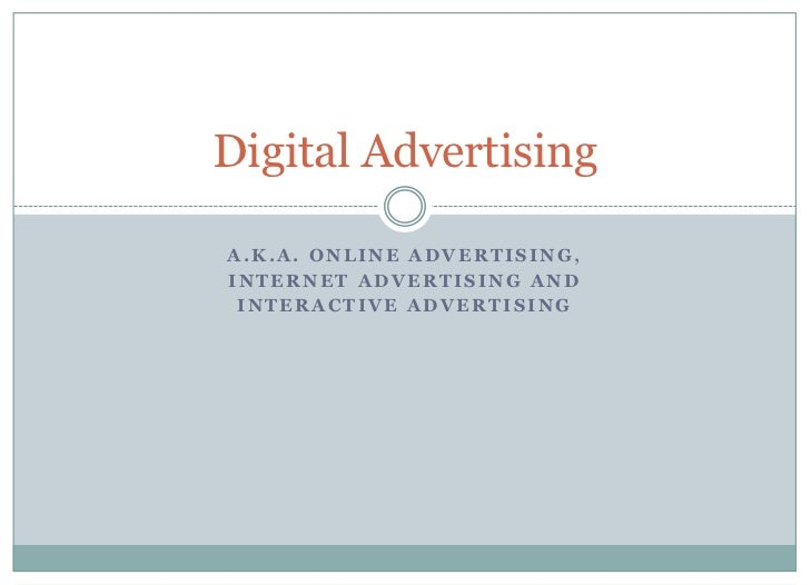 Mcom 341-15 Digital Advertising