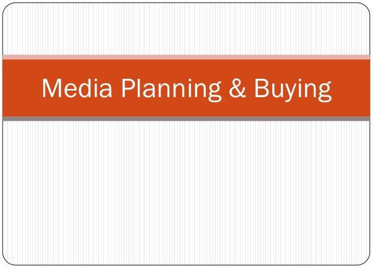 Media Planning & Buying<br />