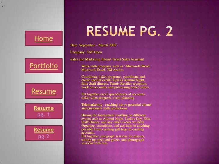 Interactive Resume resume profile in genially Mcom 63 Interactive Resume Power Point