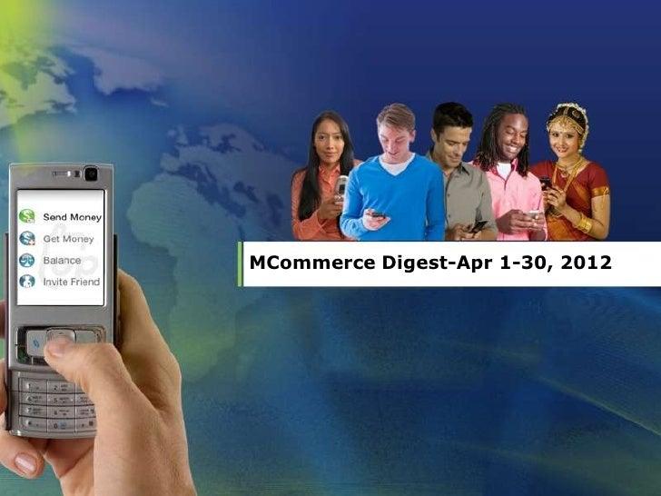 MCommerce Digest-Apr 1-30, 2012