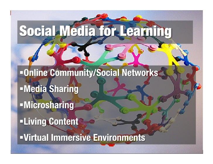 Social Media for Learning Slide 3