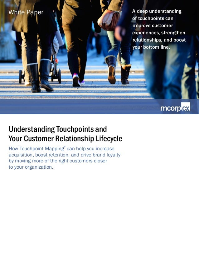 Understanding Touchpoints and Your Customer Relationship Lifecycle How Touchpoint Mapping ® can help you increase acquisit...