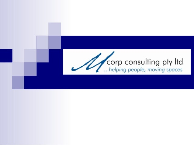 Mcorp consulting at work for youAs specialists in the field of commercial move planning, Mcorp consultingoffers a unique s...