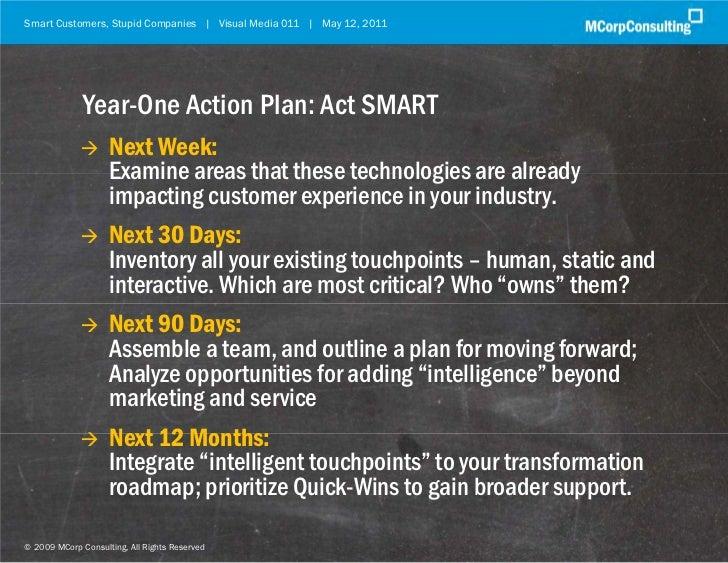Smart Customers, Stupid Companies | Visual Media 011 | May 12, 2011               Year-One Action Plan: Act SMART         ...