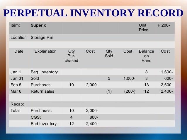 Periodic Inventory vs. Perpetual Inventory