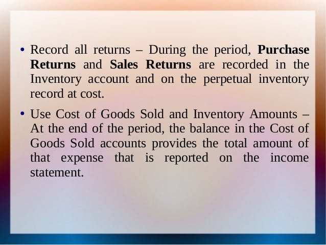 Periodic Inventory vs  Perpetual Inventory