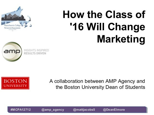 How the Class of                        16 Will Change                             Marketing                A collaboratio...