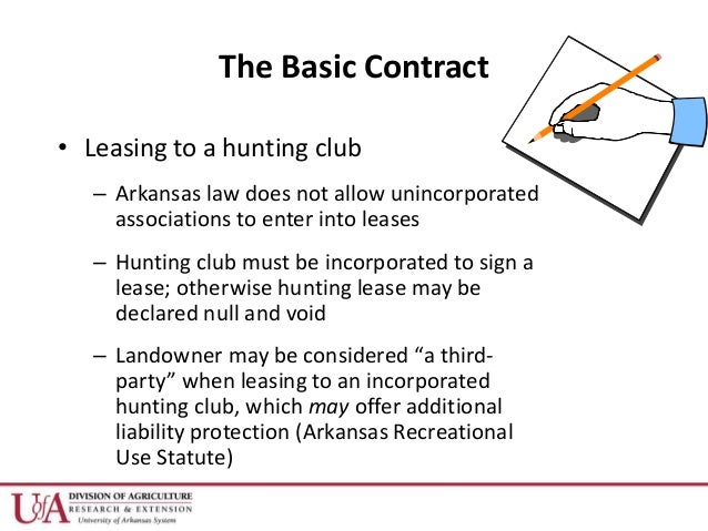 Hunting Lease Agreement Free Arkansas Standard Residential Lease