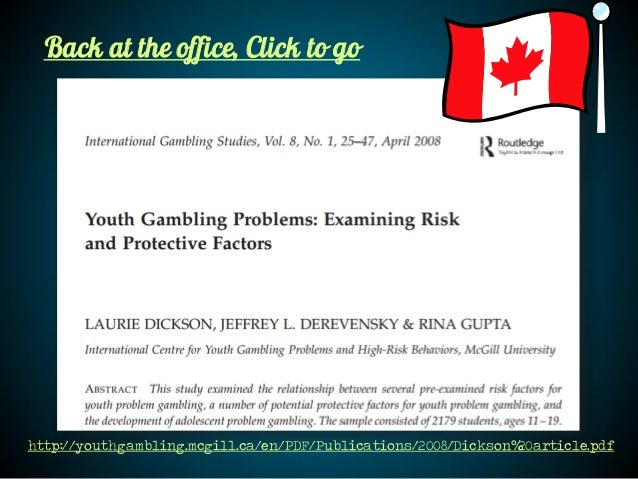 Deverensky the identification of risk and protective factors youth gambling casino 500 nations slots vip