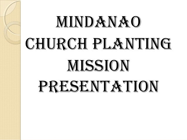 Mindanao Church Planting Mission of Churches of Christ Slide 2