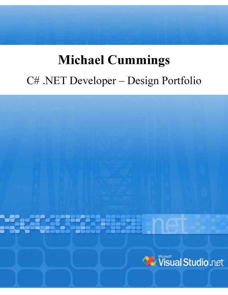 Michael Cummings C# .NET Developer – Design Portfolio
