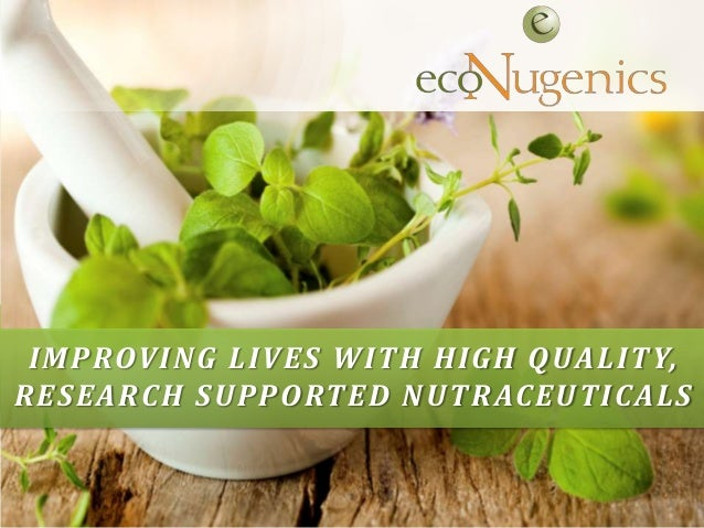 Confidential and Proprietary IMPROVING LIVES WITH HIGH QUALITY, RESEARCH SUPPORTED NUTRACEUTICALS