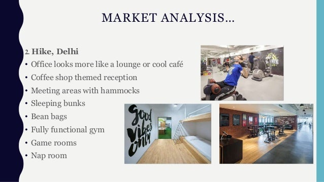 MARKET ANALYSIS… 2. Hike, Delhi • Office looks more like a lounge or cool café • Coffee shop themed reception • Meeting ar...
