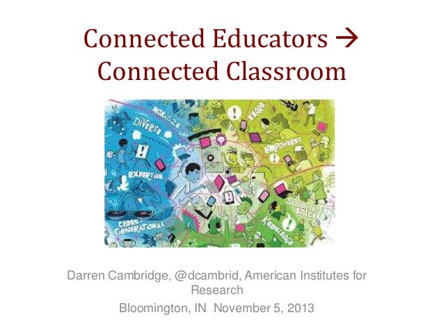 Connected Educators  Connected Classroom  Darren Cambridge, @dcambrid, American Institutes for Research Bloomington, IN N...