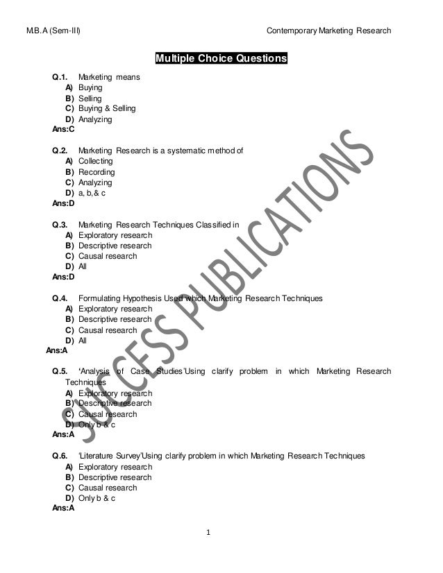 marketing management quiz questions and answers pdf