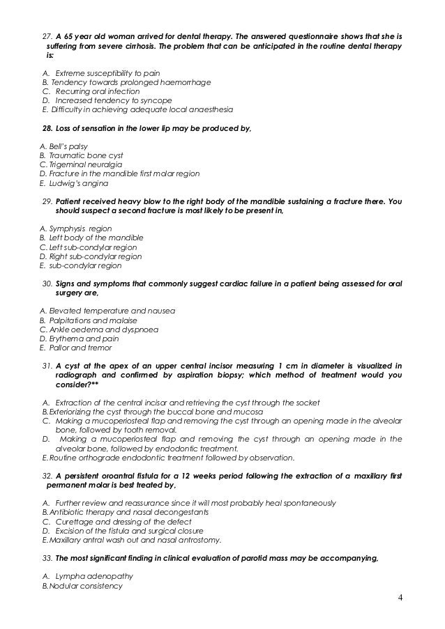 1100 mcq in dentistry with answers 4 27 fandeluxe Images