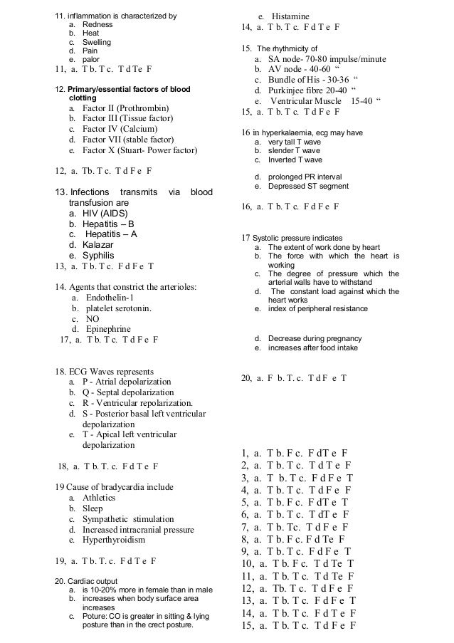 Mcq 1st term Physiology 2015
