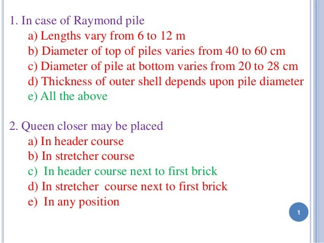 basic civil engineering questions and answers pdf
