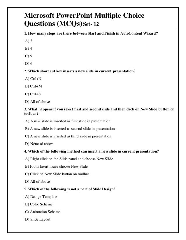 Mcq powerpoint 2007 49 microsoft powerpoint multiple choice questions toneelgroepblik Choice Image