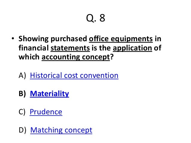MCQs on accounting concept