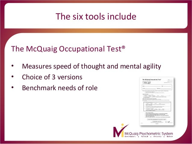 McQuaig Psychometric System - quick overview