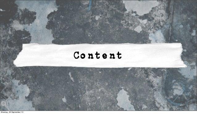 Content Monday, 23 September 13
