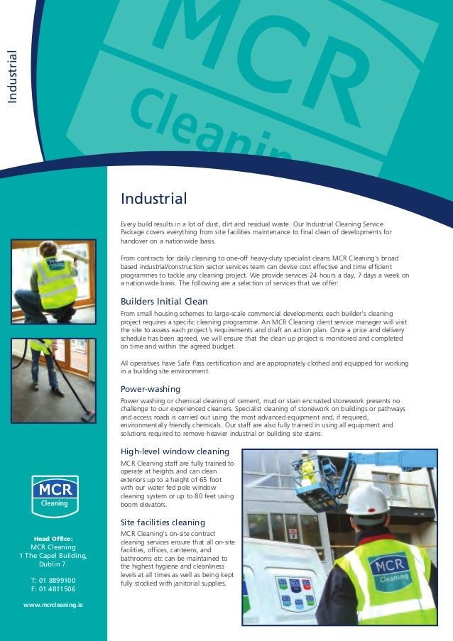 Industrial Every build results in a lot of dust, dirt and residual waste. Our Industrial Cleaning Service Package covers e...