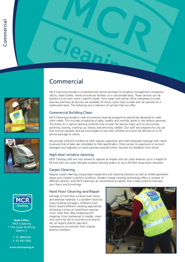 Commercial MCR Cleaning provides a comprehensive service package for property management companies, offices, retail outlet...