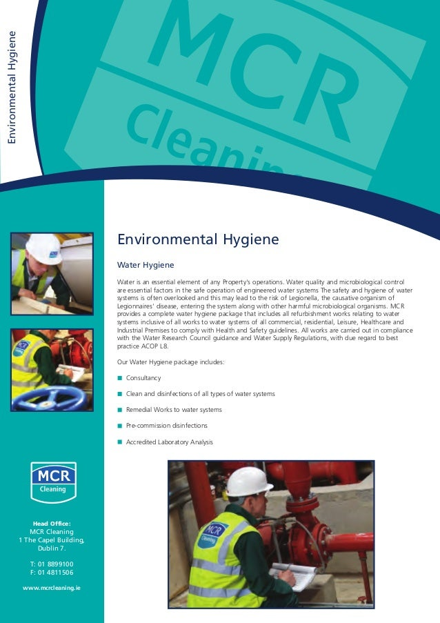 Environmental Hygiene Water Hygiene Water is an essential element of any Property's operations. Water quality and microbio...