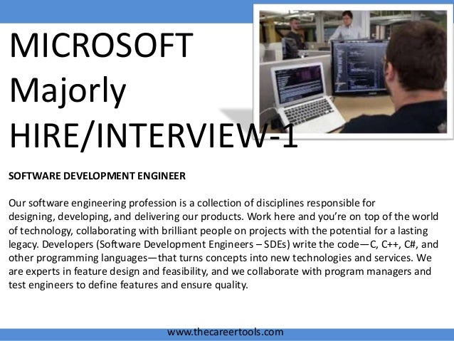Microsoft interview questions Microsoft sde sdet jobs