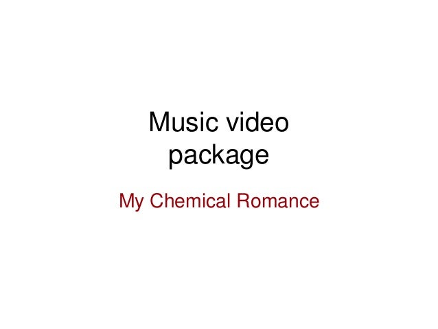 Music video package My Chemical Romance