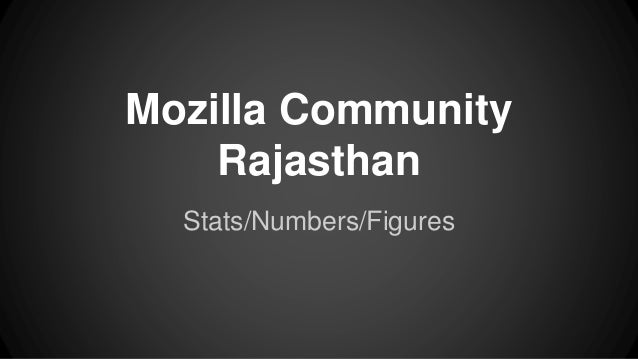 Mozilla Community Rajasthan Stats/Numbers/Figures