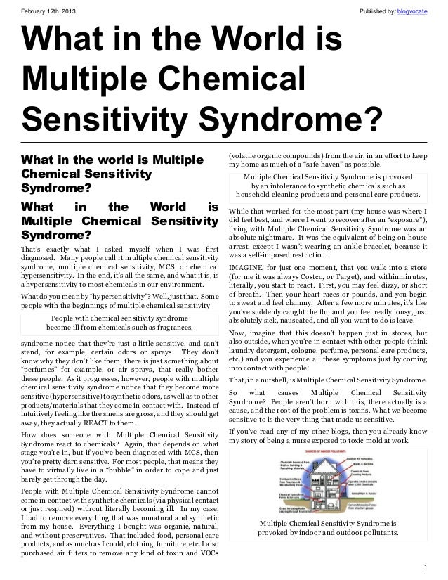 Chemical sensitivity february 17th 2013 published fandeluxe Images
