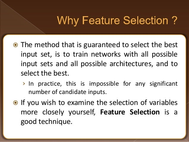 machine learning feature selection