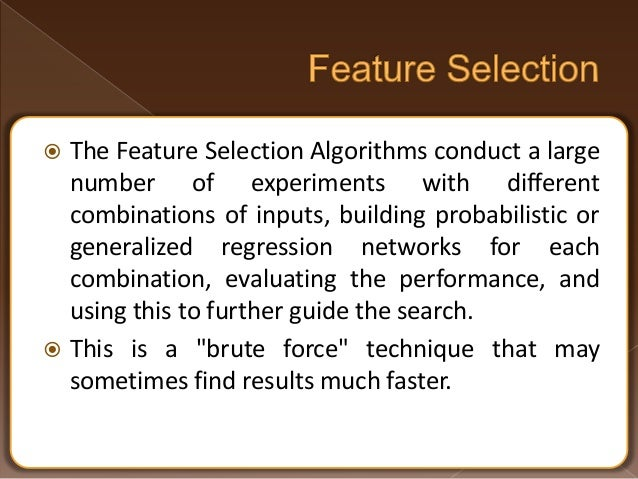 feature selection machine learning