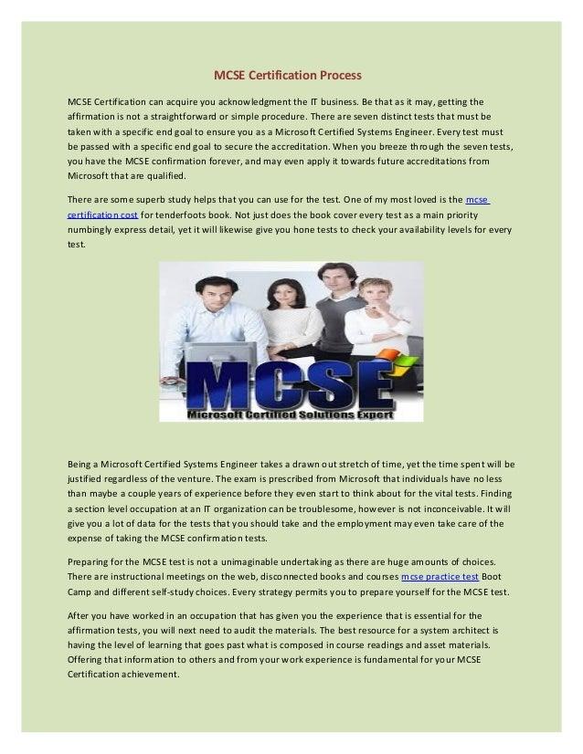 Mcse Certification Process