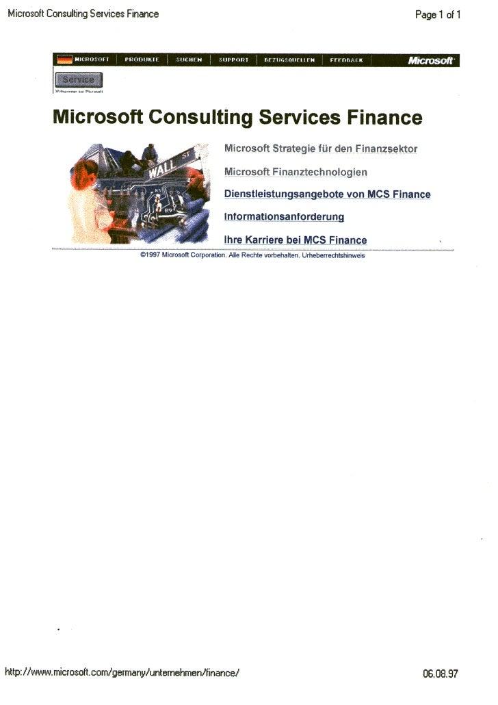 MCS Finance Dienstleistungen Christoph Marloh 1997