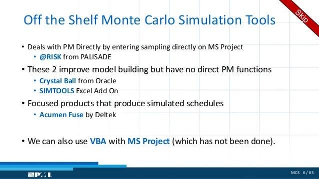 Monte Carlo Simulation for project estimates v1 0