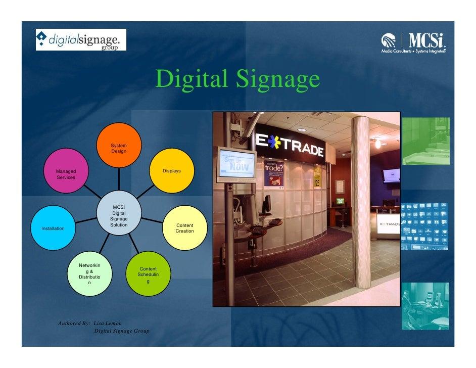Digital Signage                                  System                                 Design           Managed          ...
