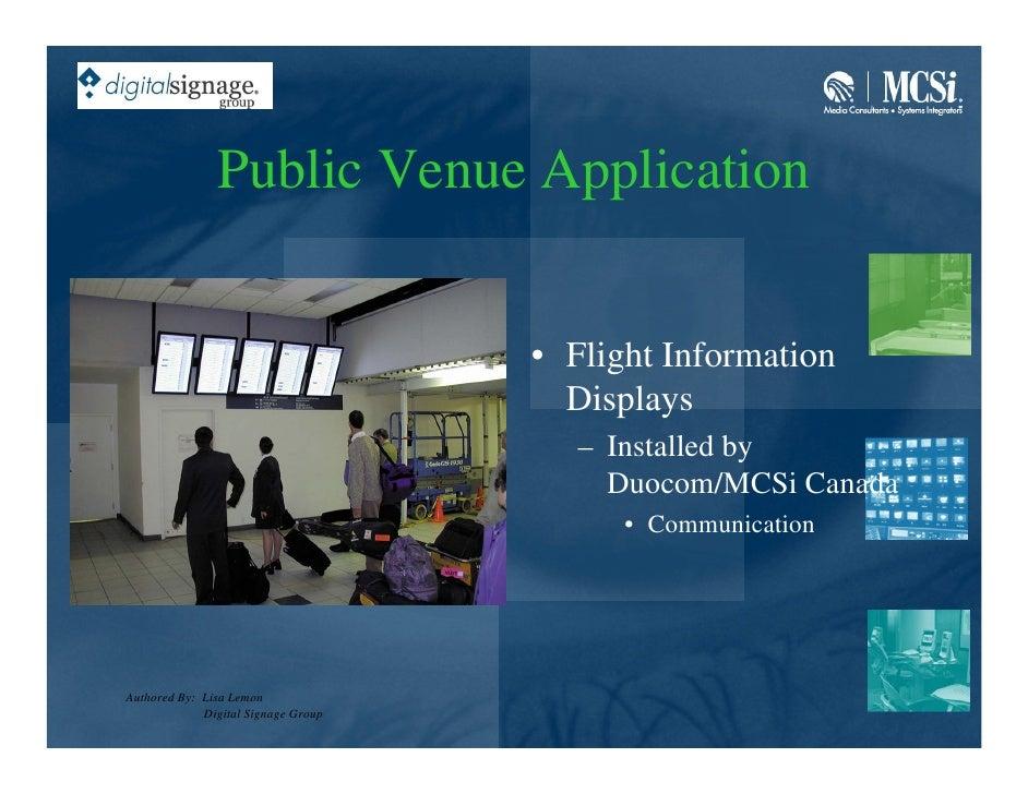 Public Venue Application                                        • Flight Information                                      ...