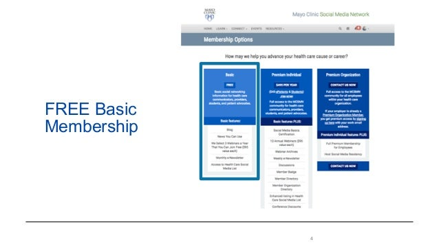 Mayo Clinic Social Media Network Resources and Membership Benefits