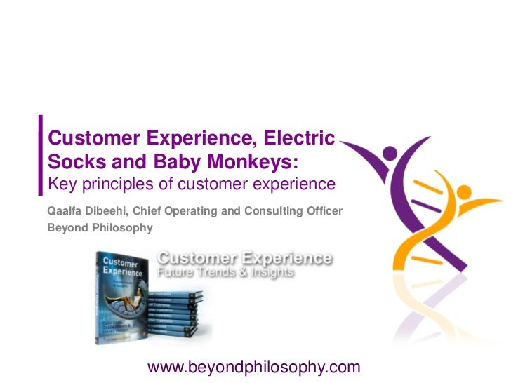 Customer Experience, ElectricSocks and Baby Monkeys:Key principles of customer experienceQaalfa Dibeehi, Chief Operating a...