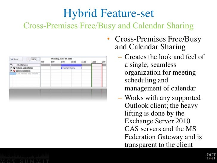 Mct summit na deploying a hybrid exchange 2010-office365 ...