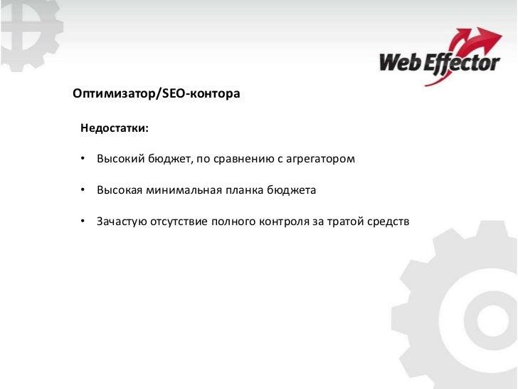 Работа специалиста над сайтом (поисковая оптимизация)