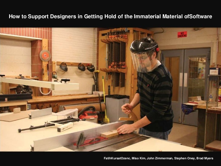 How to Support Designers in Getting Hold of the Immaterial Material ofSoftware                                    FatihKur...